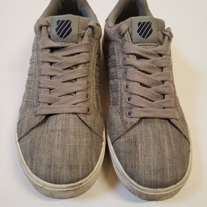Kswiss gray canvas sneakers size 4 1/2